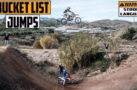 Sending Europe's Gnarliest Motocross Double on a CR500 & KTM 250 Two Stroke   BUCKET LIST JUMPS  ▶️😮📳