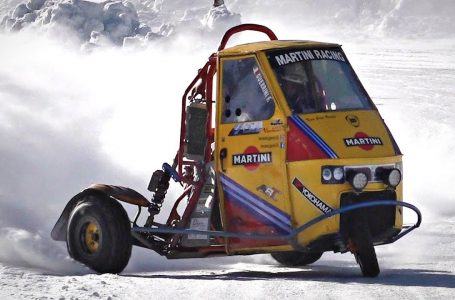 CRAZY Ape Car Proto with 600cc 3 Cylinder Motorcycle Engine DRIFTING in the Snow!!🔝⭐