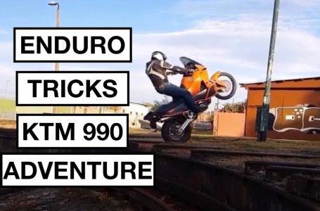 Enduro Tricks With KTM 990 Adventure 😱👆🏻