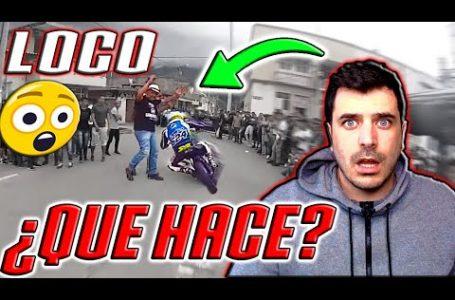 CARRERA de MOTOS urbana se CRUZA un LOCO! 😲 en COLOMBIA / IRONFRAN