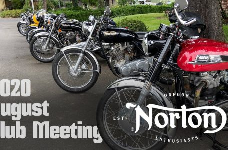 oNe (Oregon Norton Enthusiasts) – August 2020 Club Meeting