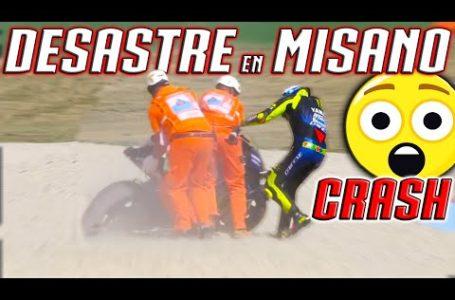MISANO MOTOGP 2020-Valentino ROSSI SE CAE