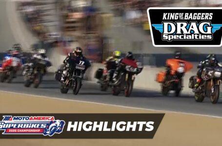 MotoAmerica Drag Specialties King of the Baggers Race Highlights at Laguna Seca 2020