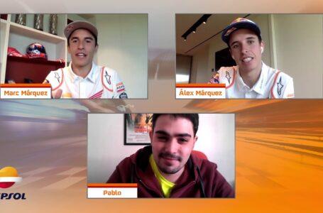 Marc Márquez y Álex Márquez conocen a los fans del Equipo Repsol Honda