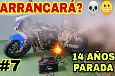 #7 💥ARRANCARÁ después de 14 AÑOS PARADA??😬 SUZUKI GSXR 750💀 Motorcycle Starting Up After Many Years