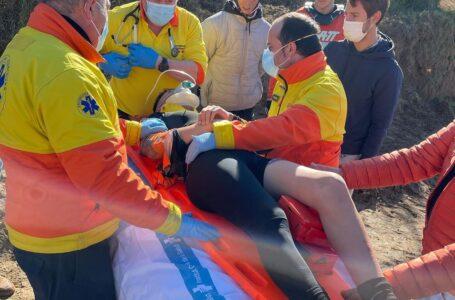 Edgar Canet lesionado  «2 vertebras rotas D6 y D7 y una desplazada D8»