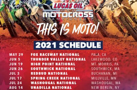 Anunciado un calendario de 12 carreras para los AMA PRO Motocross 2021