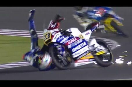 Grandes caídas en Moto3 – Qatar