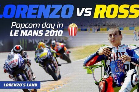 LORENZO VS ROSSI un #FRENCHGP de CINE 🍿 😮 | Le Mans 2010 [Jorge Lorenzo] #99seconds