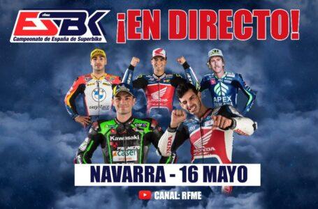 ¡En directo! ESBK – Campeonato de España de Superbike. Navarra, 2ª prueba
