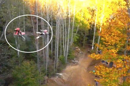 Salto de motocross que pudo ser mortal en Pastranaland