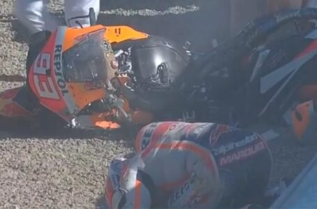 Vídeo de la gran caída de Marc Márquez hoy en Jerez