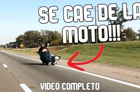 ⚠️Accidente en MOTO⚠️ – Se cae el acompañante de la moto