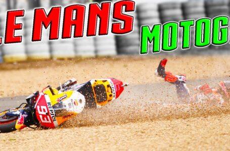 MOTOGP Le Mans 2021 MARQUEZ de la GLORIA a la GRAVA