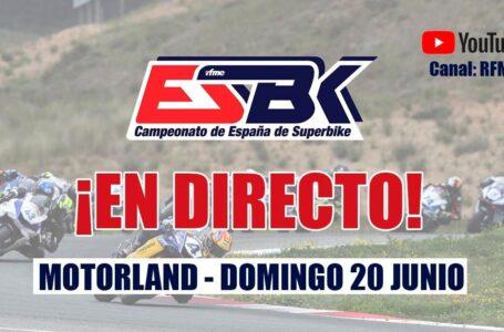 ¡En directo! ESBK Motorland 2021. Tercera prueba