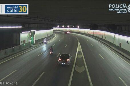 Un motorista kamikaze es detenido tras recorrer 14 kilómetros en sentido contrario en Madrid